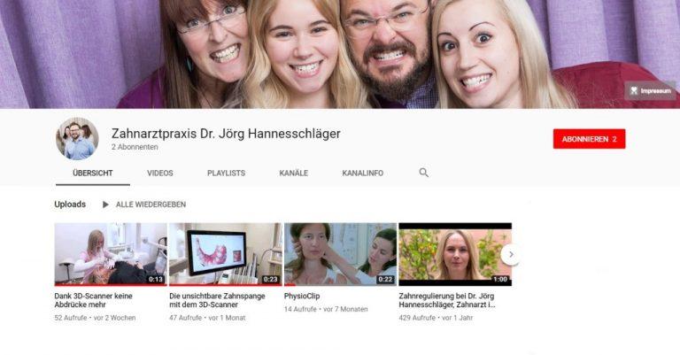 YouTube Kanal des Klagenfurter Zahnarztes